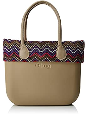 O bag Damen Evs00_tes01_tes88_ecs01 Shopper, Beige (Sabbia), 39x31x14 cm