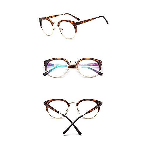 Siwen Neue Metall halb umrandeten Sonnenbrille Frauen männer transparent Leopard Sonnenbrille im freien einkaufen Kunststoff Brille,Leopard