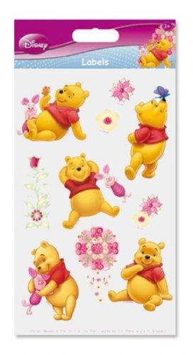 cm Winnie The Pooh - 1 Karte mit 10 Stickern (Disney Sticker)