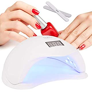 Fast Nail Lamp,Smart Auto-Sensing 48W LED UV Professional Fast Gel Timing Nail Lamp for Manicure and Pedicure with Sensor, Large Internal Space with Detachable Panel, 4 Timing Modes, Manicurist First Choice Nail Dryer,(Lypumso -Color White)