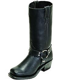 Botas de los EE.UU.-Botas de motard-BO 2064-60-C (pie normal) para mujer, color negro