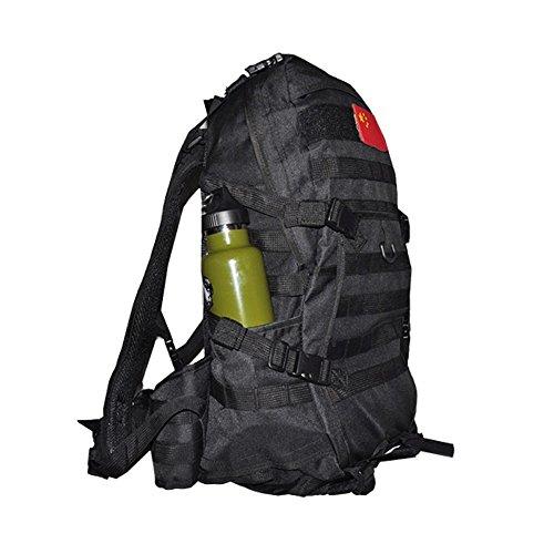 emansmoer Unisex Camo Armee Militär Tactical Combat Tasche Outdoor Camping Wandern Trekking Jagd Reisen Rucksack (ACU) Schwarz