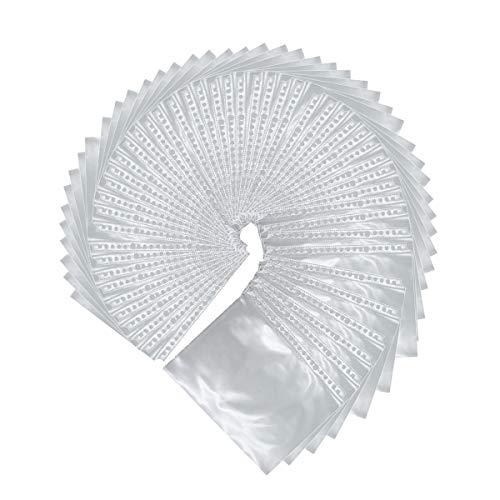 Eilova Klarsichthüllen aus Kunststoff mit 20 Löchern für Tagebuchplaner (A5, 50 Packungen)