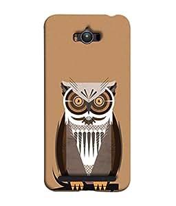 PrintVisa Horny Eyed Owl 3D Hard Polycarbonate Designer Back Case Cover for Asus Zenfone Max ZC550KL :: Asus Zenfone Max ZC550KL 2016 :: Asus Zenfone Max ZC550KL 6A076IN