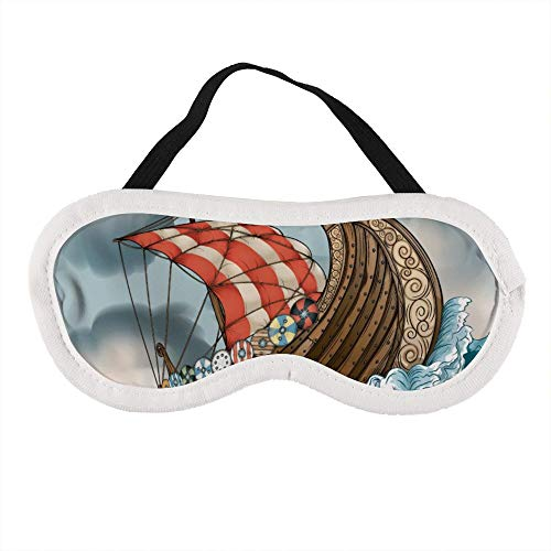 Mascherina portatile per gli occhi per uomini e donne, barca a vela galleggiante sulle onde del mare (2) la migliore maschera per dormire per viaggi, pisolino, ti offre il miglior ambiente di sonno
