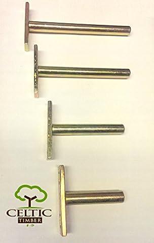 Celtic Timber Floating Shelf Concealed Hidden T-Type Bracket (115mm pack of 6)