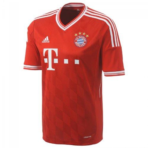 adidas Herren Trainingsshirt FC Bayern München Trikot Home, rot / weiß, M (50), Z25029