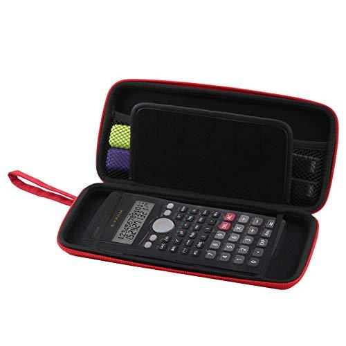 Navitech Rot Schock Sicher Eva Calculatrice Grafische/Taschenrechner Schutztasche/Abdeckung / Fall/Gehäuse für Casio FC-100V-S-UH
