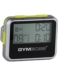 Gymboss Minuteur d'intervalle et chronomètre – COQUE BRILLANT ARGENTE / JAUNE
