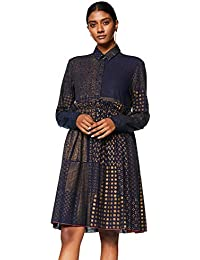 Rajesh Pratap Women's A-Line Knee-Long Dress