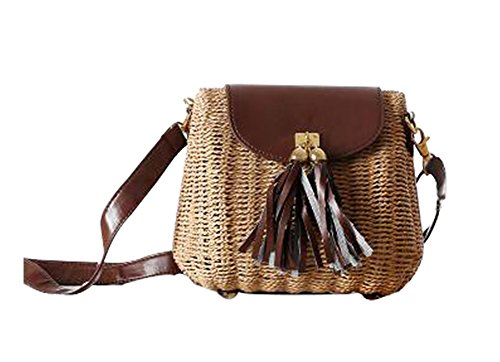 FAIRYSAN, Borsa a tracolla donna verde Darkolivegreen small Light Brown