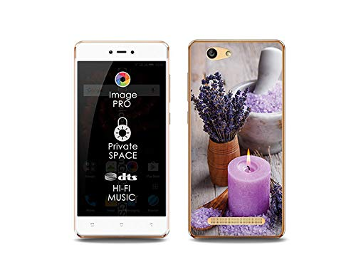 etuo Handyhülle für Allview X3 Soul Lite - Hülle, Silikon, Gummi Schutzhülle Foto Case - Lavendel-Spa