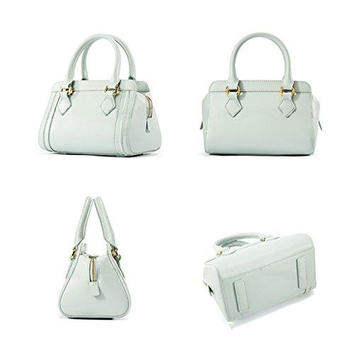 Vêtements pour femmes Napa Mode Cuir Mode Hommes épaule épaule Messenger Bag épaule Portable Multi-couleur Facultatif ( couleur : Blanc ) Vert