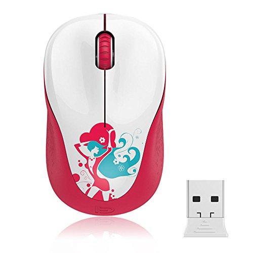 Mini Kabellose Maus, FD V10 2.4G Nette Optische Maus mit Nano Empfänger & Batterie für Kinder / Mädchen / Damen , Kompatibel mit Notizbuch/ Computer / PC / Laptop / Macbook und Chromebook