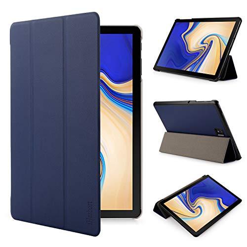 Iharbort Samsung Galaxy Tab S4 10.5 Pouce Coque Étui Housse (Sortie 2018 SM-T830N T835N) - Ultra Slim Cuir Cover avec la Fonction Sommeil/Réveil Automatique Bleu foncé
