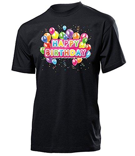Happy Birthday 4505 Herren Männer Fun Shirt Aufdruck Lustig Spruch Tshirt Geburtstag Geschenk Schwarz L