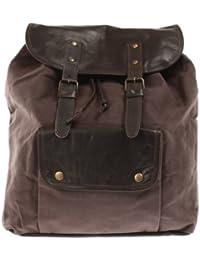 Leconi - Bolso mochila  de lona para mujer