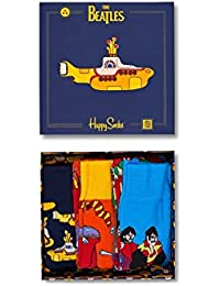 Happy Socks 3 Paires de Chausettes avec Boîte Cadeau Colorée The Beatles
