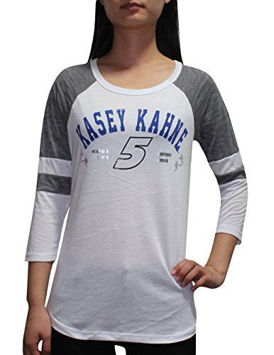 Kasey Kahne, Nascar (NASCAR Kasey Kahne #5 Damen 3/4 Sleeve Shirt (Klassiker-Look / Foliendruck) M weiß)
