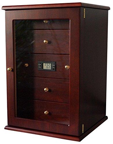 rank für ca. 400 Zigarren Viadrus mit Digital Hygrometer Kristall Befeuchter ()