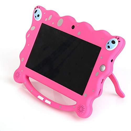 Ainol 7C08- tablet para niños de 7 pulgadas , Tablet infantil de Android 7.1 RK3126C, regalo para niños, 1GB+8GB con wifi , doble cámara, tablet de Bob Esponja, juegos educativos)Rosa