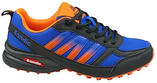 GIBRA® Herren Sportschuhe, sehr leicht und bequem, blau/orange, Gr. 41-46 Blau/Orange