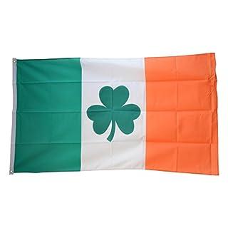 Fahne / Flagge Irland mit Shamrock Symbol + gratis Sticker, Flaggenfritze®