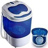 Mini Waschmaschine mit Schleuder | Waschautomat bis 3 KG | Reisewaschmaschine | Miniwaschmaschine | Camping Mobile Waschmaschine | Toploader | (1 Kammer)