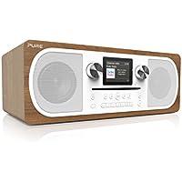 Pure Evoke C-F6 - Stereo DAB and Internet Radio with CD Player - Bluetooth - Spotify Connect - Digital DAB+ / FM - Colour Screen - Remote - Walnut
