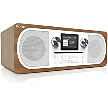 Pure Evoke C-F6 Stereo-All-in-One-Musikanlage (CD, DAB+ Digital-, UKW-Radio, Internetradio, Bluetooth inkl. Fernbedienung) walnuss