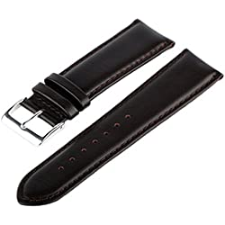 Marchel Smooth Leather Watch Band Watch Strap LLB20 Leather Wrist Band Brown 19 mm Watch band