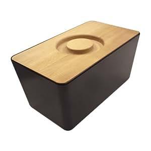 joseph joseph brotkasten aus melamin mit schneidebrett schwarz k che haushalt. Black Bedroom Furniture Sets. Home Design Ideas