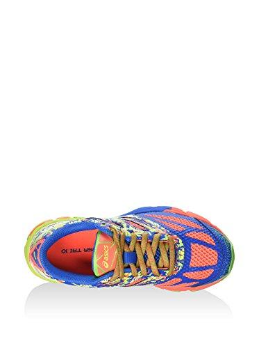 Asics Gel-Noosa Tri 10 Gs, Chaussures de Running Entrainement Mixte Enfant, 36 EU flash coral-green gecko-flash yellow