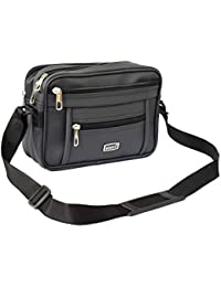 Widnes Synthetic Office Messenger Bag for Cash(Black)