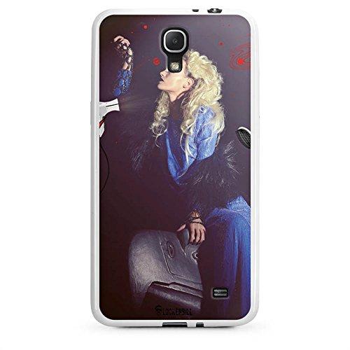 Samsung Galaxy Mega 2 Hülle Silikon Case Schutz Cover Frau Föhn Kamm (Cover Für Samsung Galaxy Mega 2)