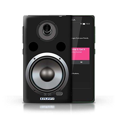 Kobalt® Imprimé Etui / Coque pour Nokia X / Hifi conception / Série Haut-Parleur dessin Hifi