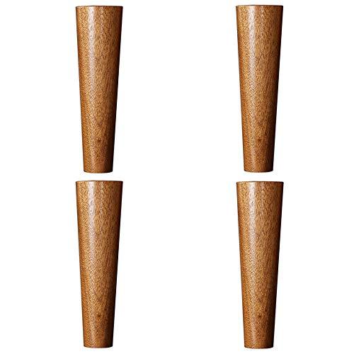 Wzp piedini per mobili,piedini in legno sapele,piedini per mobile tv,cassettiera,piedini in legno massello legno massello senza cuciture/b / 15cm