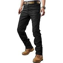 TACVASEN Táctico Militar Hombres Urbano Al aire libre Tramo Pantalones de carga Negro