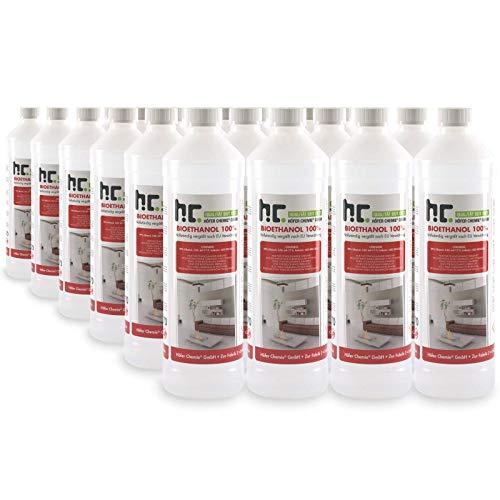 Höfer Chemie 24 L Bioethanol 100% Premium (24 x 1 L) für Ethanol Kamin, Ethanol Feuerstelle, Ethanol Tischfeuer und Bioethanol Kamin