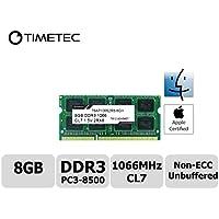 Timetec Hynix IC Apple 8GB DDR3PC3–85001066MHz aggiornamento memoria per MacBook Pro 13(Mid 2010), MacBook Unibody bianco A1342) Mid 2010, Mac Mini Mid 2010