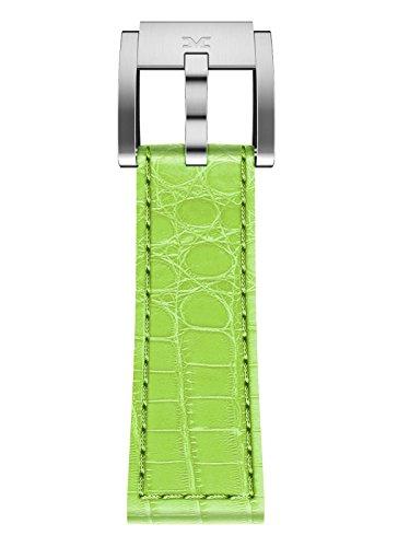 TW Steel Marc Coblen Armband Uhrenband Leder 22 MM Kroko hellgrün LB_HG_K_S