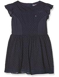 Tommy Hilfiger Mädchen Kleid Dobby Mix Dress S/S