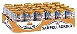 San Pellegrino Aranciata | Orangenlimonade | Hoher Fruchtanteil  | 20% frisch gepresste Orangen | Leicht herbe Geschmacksnote | Ohne künstliche Farbstoffe | 24er Pack (24 x 0,33l) Einweg Dosen