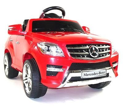 Mercedes ML350 - Coche eléctrico para niños, 6 V,mando a distancia 2,4G, Electric Ride on Car Kids (Rojo)