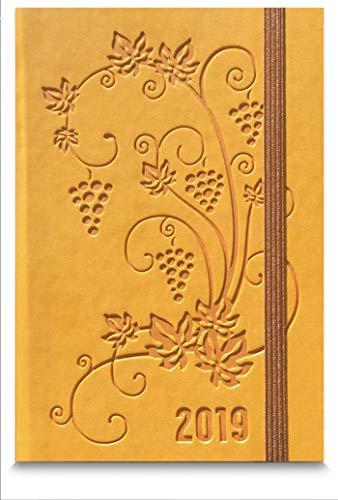 Agenda settimanale tascabile giallo ocra 2019   9x14 cm