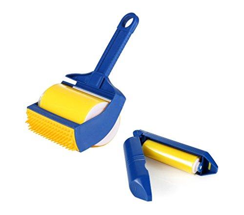 289440 El cepillo lavable 2 en 1 con rodillo elimina el vello y la suciedad