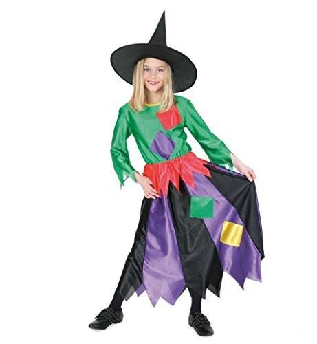 KarnevalsTeufel Hexenkostüm Kind Kleid Hut Hexe Hexen-Kinderkostüm Kostüm Witch (116)