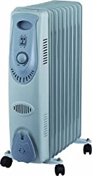 9 Fin 2000w Portable Oil Filled Radiator Electrical Caravan Home Office Heater