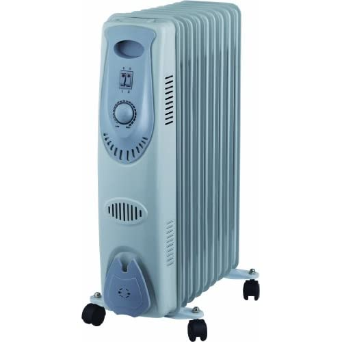 41IroY6p8JL. SS500  - 9 FIN 2000W Portable Oil Filled Radiator Electrical Caravan Home Office Heater