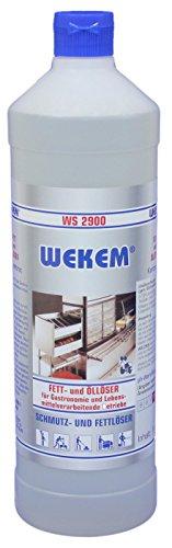WEKEM WS 2900 Gastronomie Fett- und Oelentferner 1 Liter Flasche